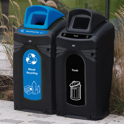Nexus® City 64G Trash & Recycling Combo