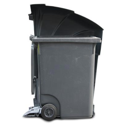 Nexus 96G trash can with optional 96 gal wheeled container