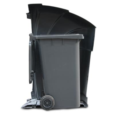 Nexus 96G trash can with optional 64 gal wheeled container