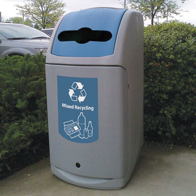 Nexus® 36G Mixed Recyclables Recycling Bin