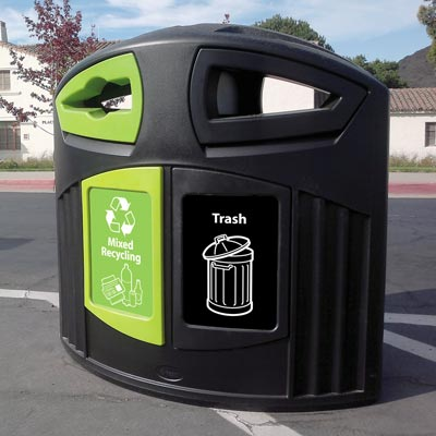Nexus® 52G Dual Trash Recycling Can