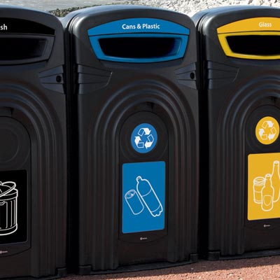 Plastic Bottle & Can Recycling Bins