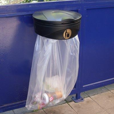 Glasdon Orbit Bag Holder Outdoor Trash Cans Glasdon