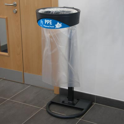 Glasdon Orbit™ PPE Trash Bag Holder Ideal for Collecting Used PPE for Disposal