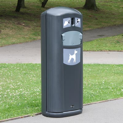 Retriever City pet waste station in anthracite gray
