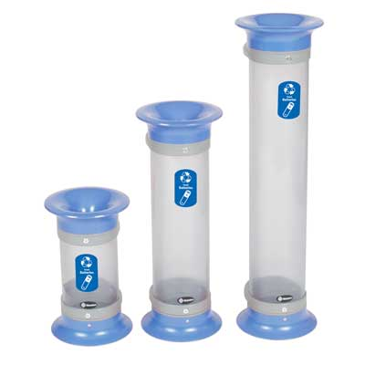 C-Thru™ 5Q, 10Q & 15Q - Recycling Collection Tubes