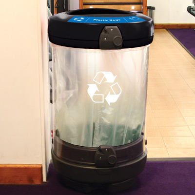 C-Thru™ 48G Plastic Bag Recycling Bin