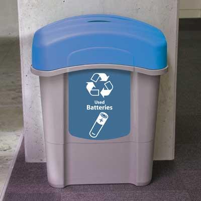 Eco Nexus 16g Battery Recycling Container Slim Design Glasdon Inc