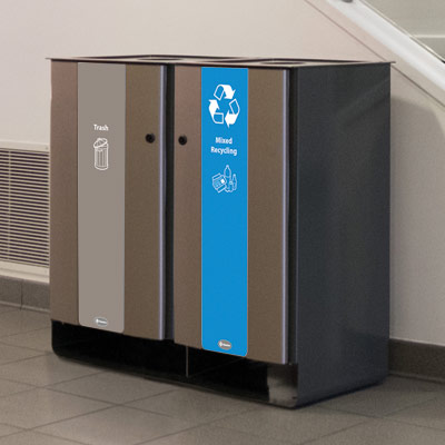 Electra™ 48 Gallon Duo Recycling Station