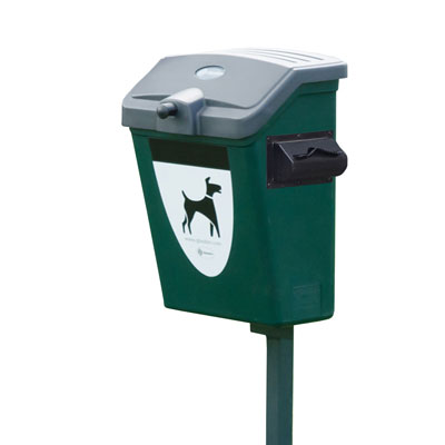 Express Fido™ 7 Gallon Pet Waste Station - Green Post or Wall Mounted with Bag Dispenser & 1000 Bags
