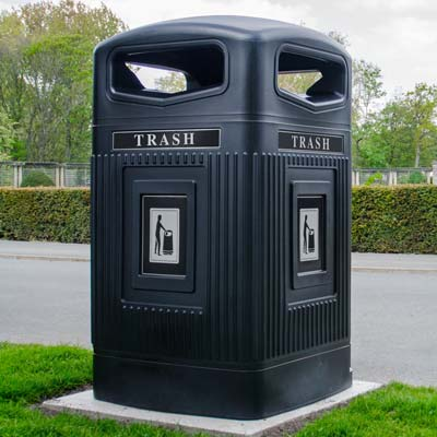Glasdon Jubilee™ 80G 80 Gallon Trash Can