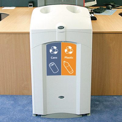 Nexus® 26G Can/Plastic Duo Recycling Station