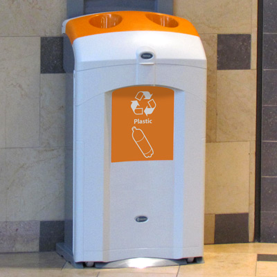 Nexus® 26G Plastic Bottle Recycling Bin