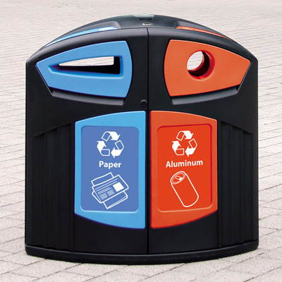 Nexus® 52G Paper/Can Recycling Station