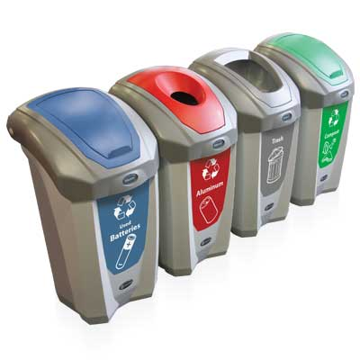 Nexus® 8G Recycling Containers - 8 Gallon Recycle Bins