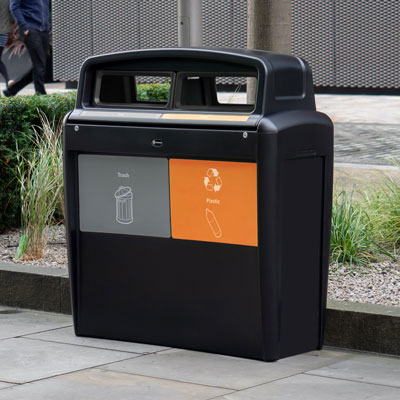 Nexus® Transform City Duo Recycling Station Capacity of 2 x 20 Gallons