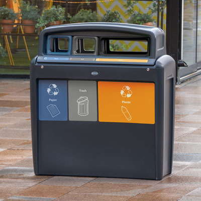 Nexus® Transform City Trio Recycling Station Capacity of 2 x 10 and 1 x 20 Gallons