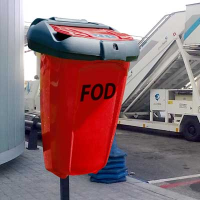 23 gallon FOD can in bright red
