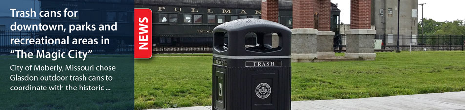 Trash cans for downtown, parks and recreational areas in The Magic City